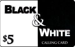 Buy Black and White phone card