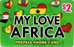 Buy My Love Africa phone card