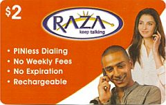 Buy Raza phone card