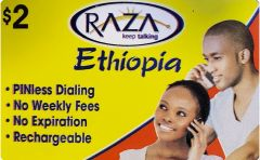 Buy Raza Ethiopia phone card